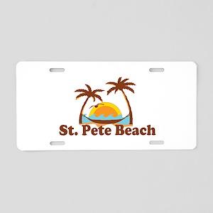 Boca Grande - Palm Trees Design. Aluminum License