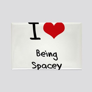 I love Being Spacey Rectangle Magnet