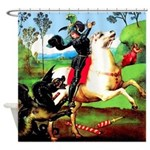 St. George Fighting Dragon Shower Curtain