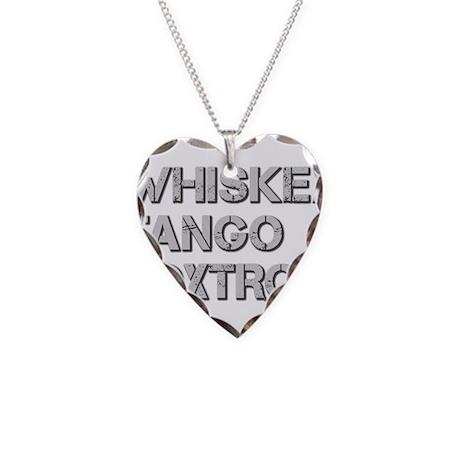 WHISKEY TANGO FOXTROT ci Necklace Heart Charm