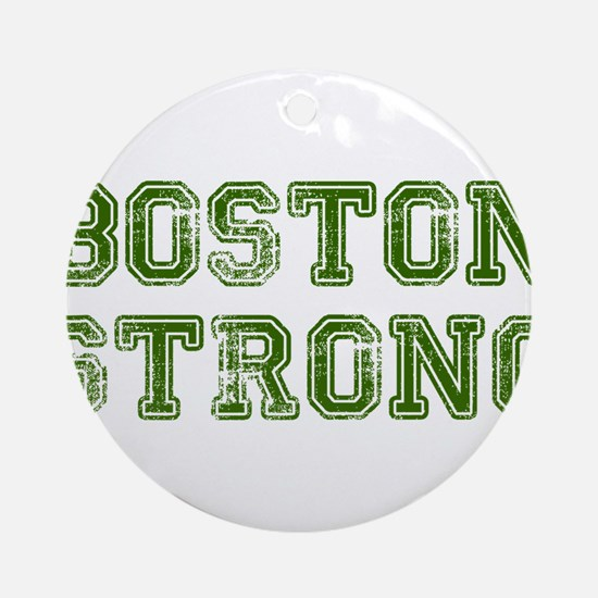 boston-strong-colleged-green Ornament (Round)
