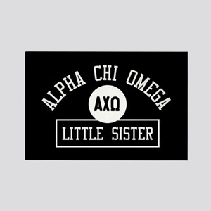 Alpha Chi Omega Little Sister Ath Rectangle Magnet