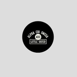 Alpha Chi Omega Little Sister Athletic Mini Button