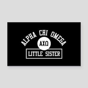 Alpha Chi Omega Little Sister Rectangle Car Magnet