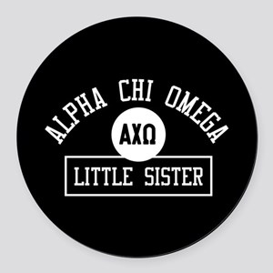 Alpha Chi Omega Little Sister Ath Round Car Magnet