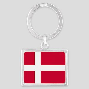 Flag of Denmark Landscape Keychain