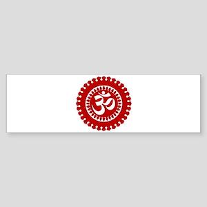 Ornate Om Red Bumper Sticker