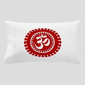 Ornate Om Red Pillow Case