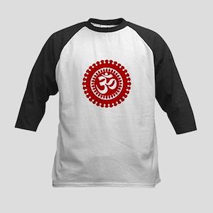 Ornate Om Red Baseball Jersey