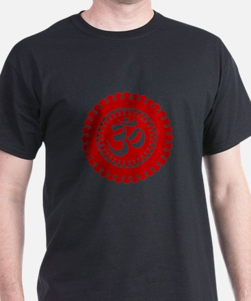 Ornate Om Red T-Shirt