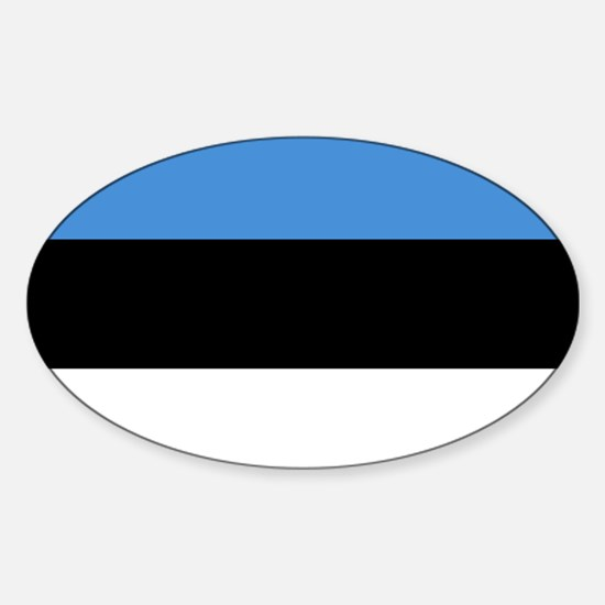 Flag of Estonia Sticker (Oval)