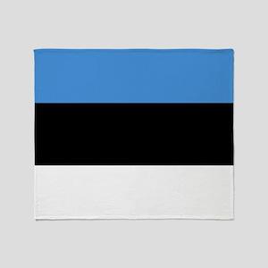 Flag of Estonia Throw Blanket