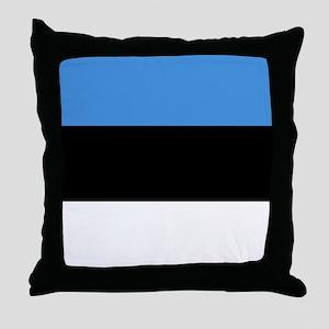 Flag of Estonia Throw Pillow