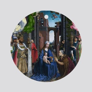 Mabuse: Adoration of the Kings Ornament (Round)