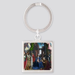 Mabuse: Adoration of the Kings Square Keychain