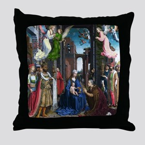 Mabuse: Adoration of the Kings Throw Pillow