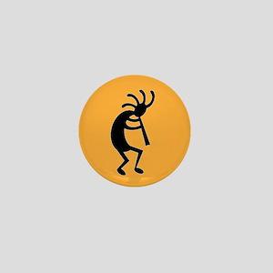 Yellow And Black Kokopelli Mini Button