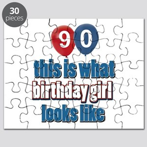 90 year old birthday girl Puzzle