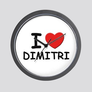 I love Dimitri Wall Clock