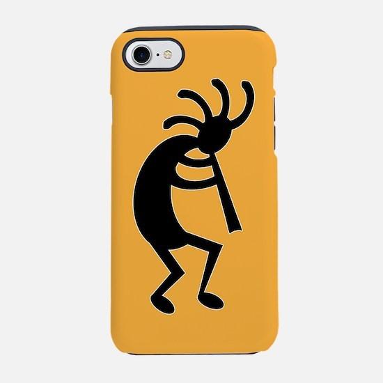 Yellow And Black Kokopelli iPhone 7 Tough Case