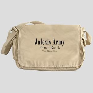 Julexis Army Rank and Name Messenger Bag