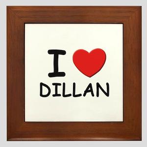 I love Dillan Framed Tile