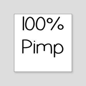 100 Percent Pimp Sticker