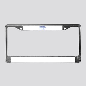 great-dads-bodoni-blue License Plate Frame