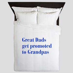 great-dads-bodoni-blue Queen Duvet