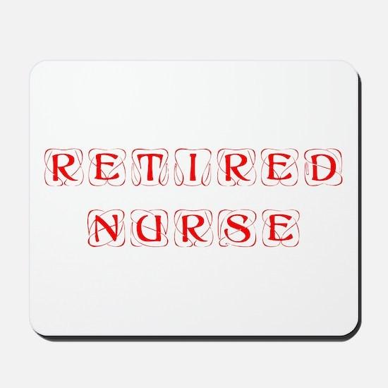 retired-nurse-kon-red Mousepad