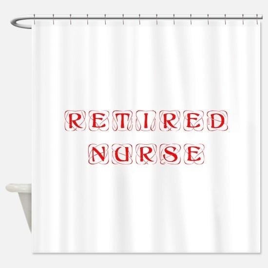 retired-nurse-kon-red Shower Curtain