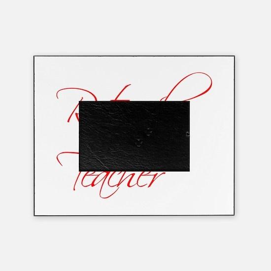 retired-teacher-scriptina-red Picture Frame