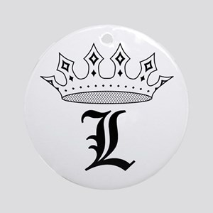 Crown L Ornament (Round)