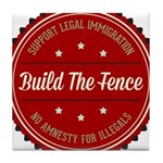 Build The Fence Tile Coaster