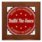 Build The Fence Framed Tile