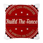 Build The Fence Woven Throw Pillow
