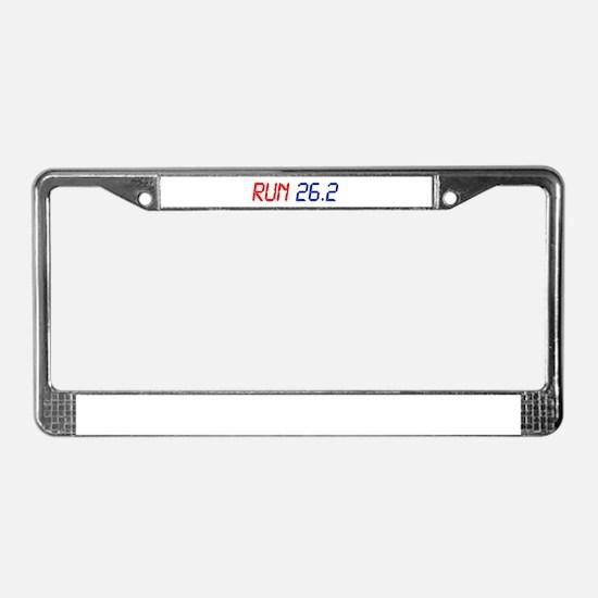 run-26.2-lcd License Plate Frame