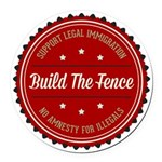 Build The Fence Round Car Magnet