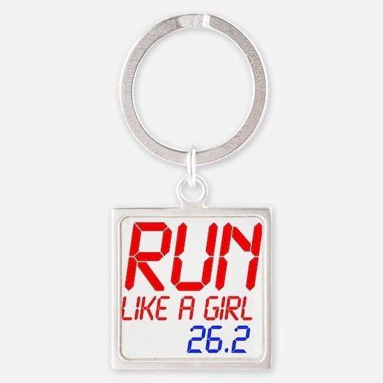 run-like-a-girl-lcd Keychains