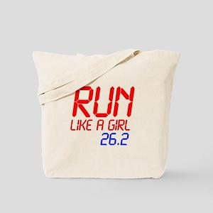 run-like-a-girl-lcd Tote Bag