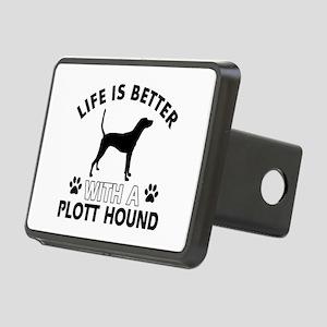 Life is better with Plott Hound Rectangular Hitch