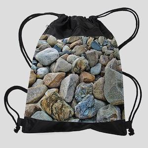 Beach Rocks Drawstring Bag