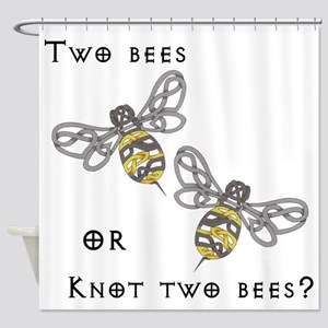 Two Bees Shower Curtain