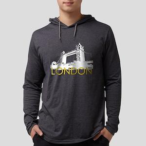 London Landmarks: Tower Bridge Mens Hooded Shirt