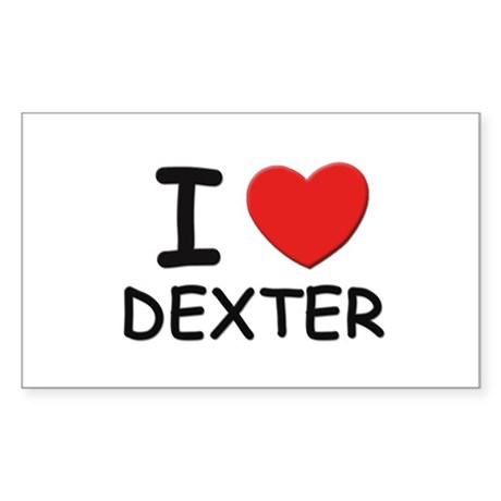 I love Dexter Rectangle Sticker