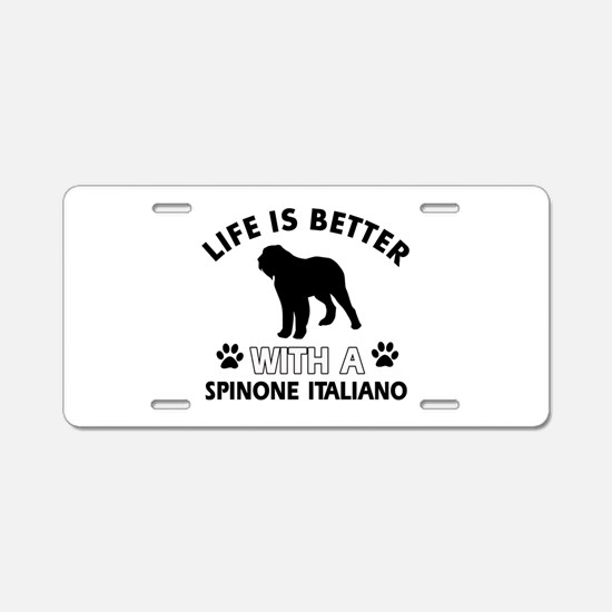 Life is better with Spinone Italiano Aluminum Lice