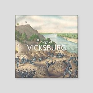 "ABH Vicksburg Square Sticker 3"" x 3"""
