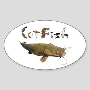 Catfish side font Sticker