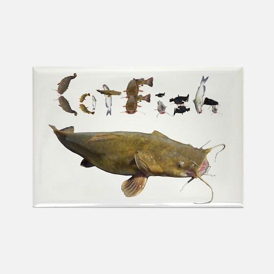 Catfish side font Rectangle Magnet