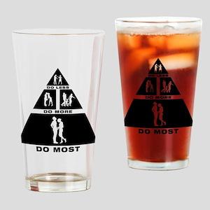 Manhood Check Drinking Glass